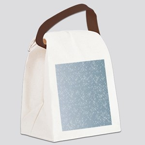 Sparkling Blue Canvas Lunch Bag