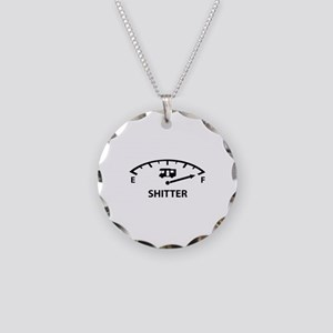 Shitter Was Full Necklace Circle Charm