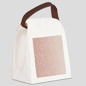 Peach Sparkles Canvas Lunch Bag