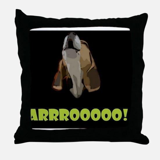 Arrrooooo! Throw Pillow