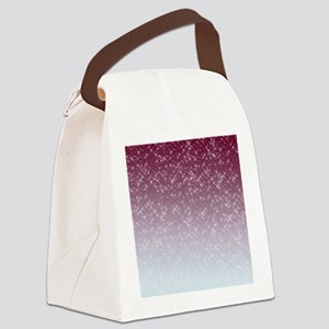 Sparkling Pink Canvas Lunch Bag