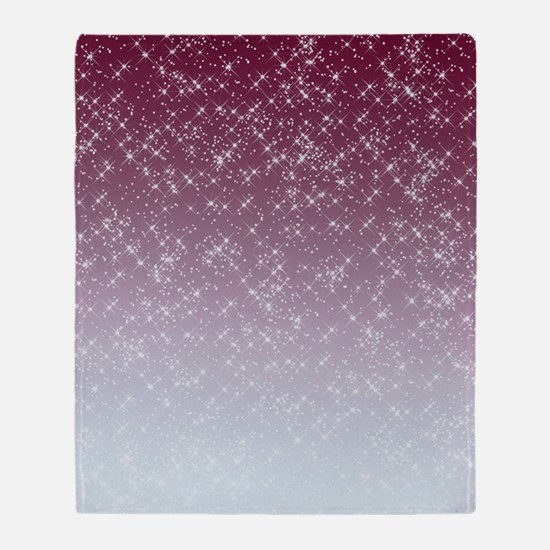 Sparkling Pink Throw Blanket
