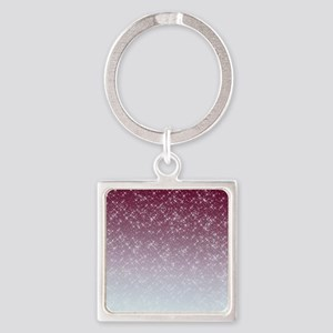Sparkling Pink Square Keychain