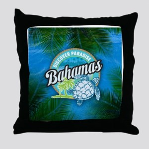 Discover Paradise in Bahamas Throw Pillow