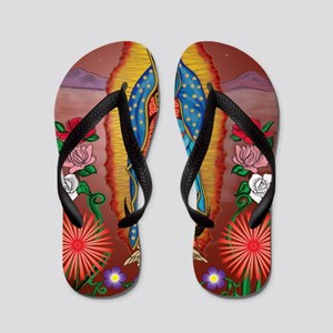 Virgin of Guadalupe Flip Flops