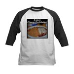 I Love Cheese Enchildas Kids Baseball Jersey
