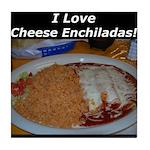 I Love Cheese Enchildas Tile Coaster
