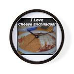 I Love Cheese Enchildas Wall Clock
