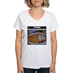 I Love Cheese Enchildas Women's V-Neck T-Shirt