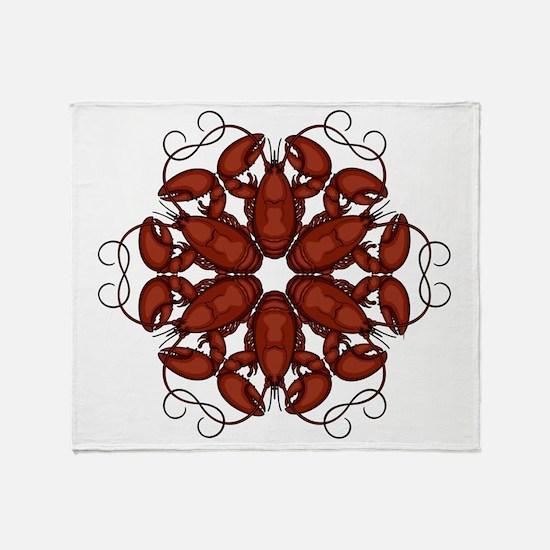 Lobsters Throw Blanket