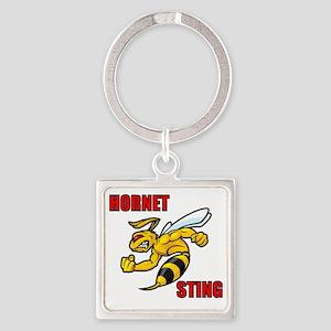 Hornet Sting Square Keychain