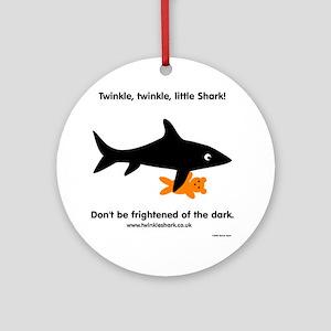 Twinkle, Twinkle Little Shark Round Ornament