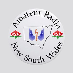 Amateur Radio NSW Logo Round Ornament