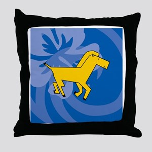 Horse Sticky Notepad Throw Pillow