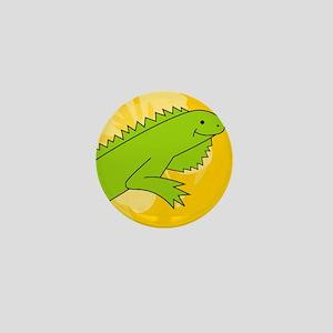 Iguana Mens All Over Print T-Shirt Mini Button