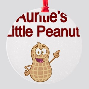 Aunties  Little Peanut Round Ornament