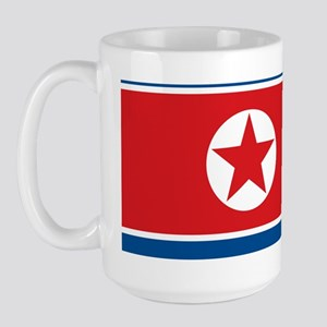 north-korea-flag_full_9x18 Large Mug