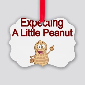 Expecting a little Peanut Picture Ornament