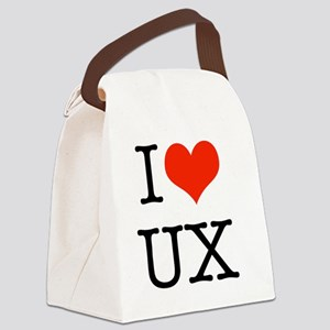 I heart UX Canvas Lunch Bag