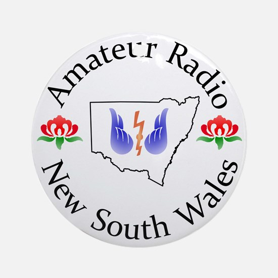 Amateur Radio NSW Logo Round Ornament
