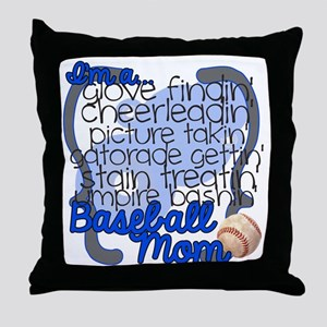 Im A Baseball Mom Throw Pillow