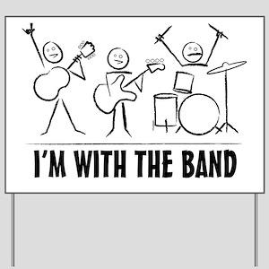 stickman band Yard Sign