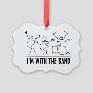 stickman band Picture Ornament
