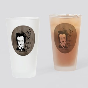 Funny Edgar Allen Poe Drinking Glass