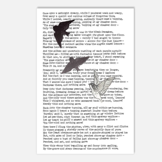The Raven poem, Edgar All Postcards (Package of 8)