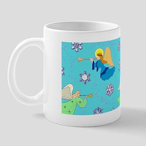 Angels in Blue – Snowflakes Trumpets Mug