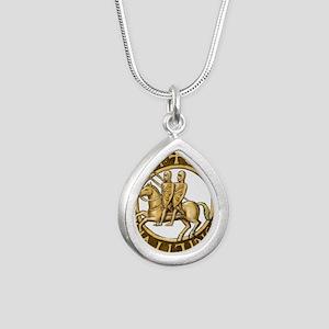 Templar seal Silver Teardrop Necklace