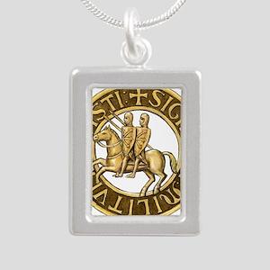 Templar seal Silver Portrait Necklace