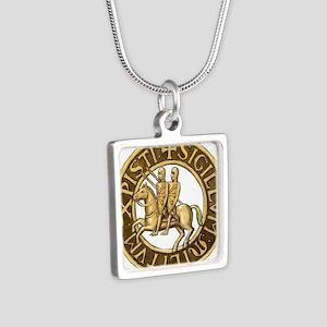 Templar seal Silver Square Necklace