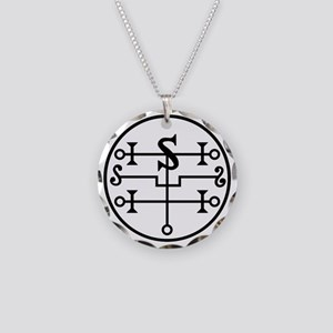 Vector Seal of Andromalius Necklace Circle Charm