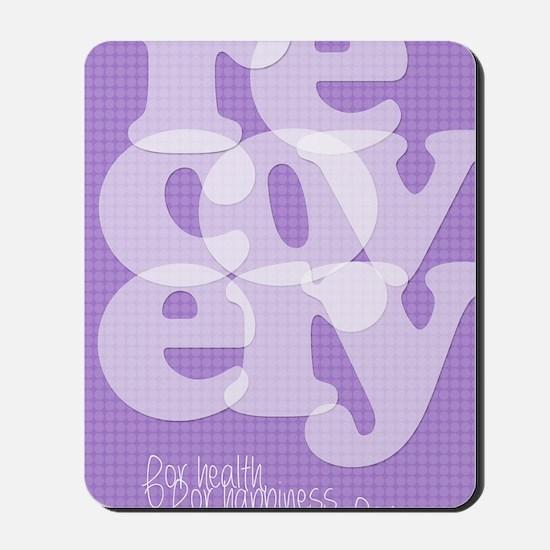 Purple Recovery Mousepad