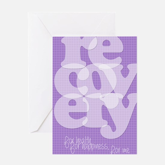 Purple Recovery Greeting Card