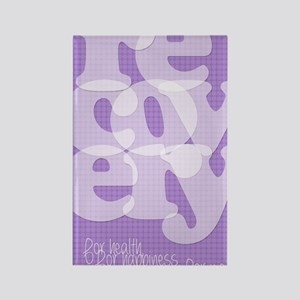 Purple Recovery Rectangle Magnet