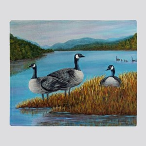 Canada Geese at Lake Lure Throw Blanket