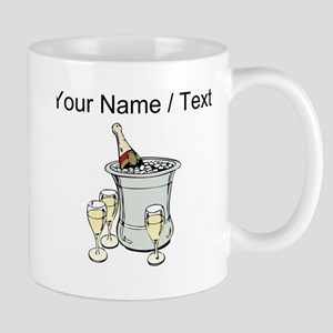 Custom Champagne On Ice Mugs