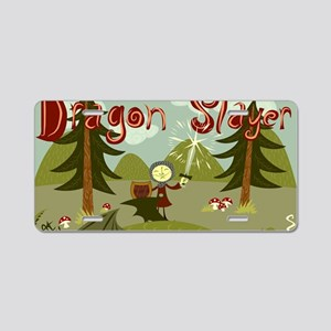 Dragon Slayer Aluminum License Plate