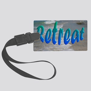 Gulf and Bay Retreat Large Luggage Tag