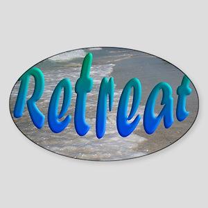Gulf and Bay Retreat Sticker (Oval)