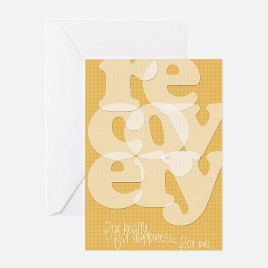 Orange Recovery Greeting Card