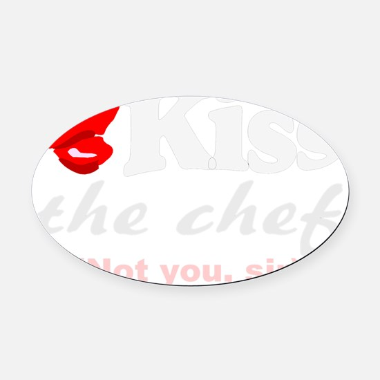 kiss chef Oval Car Magnet