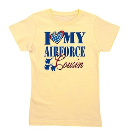 I Love My Airforce Cousin Girl's Tee