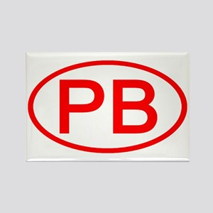 PB Oval (Red) Rectangle Magnet