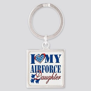 I Love My Airforce Daughter Square Keychain