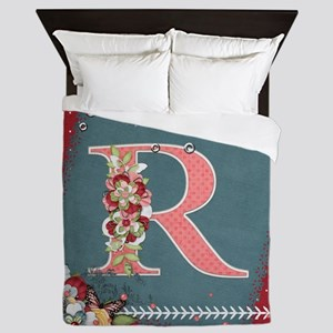 Country Charm Monogramed R Queen Duvet