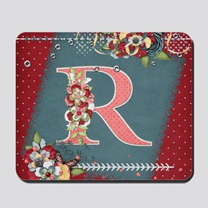 Country Charm Monogramed R Mousepad