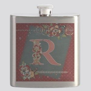 Country Charm Monogramed R Flask